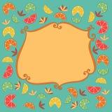 Citrus frame decoration Stock Image