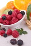 Citrus fresh fruits. Close up on berries fruits Stock Image