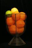 Citrus Fruit. Against Black Stock Image