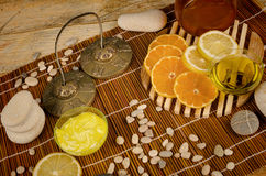 Citrus fruit based body care Stock Image