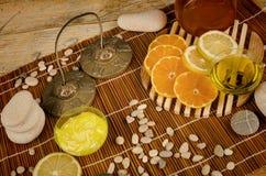 Citrus fruit based body care Stock Image
