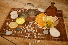 Citrus fruit based treatment Royalty Free Stock Images