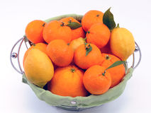 Citrus fruit in the basket Royalty Free Stock Image