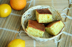 Citrus fruit-cake Royalty Free Stock Photos