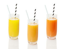 Citrus fruit drinks Royalty Free Stock Images