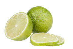 Citrus fruit food  isolated over white Royalty Free Stock Photos