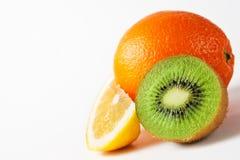 Citrus fruit isolated on white Royalty Free Stock Images