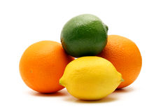 Citrus fruit isolated on white Royalty Free Stock Image
