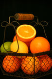 Citrus Fruit Over Black Stock Photos