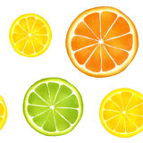 Citrus fruit pattern Royalty Free Stock Photography