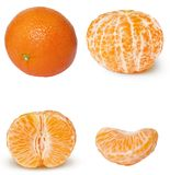 Citrus fruit peeled and sliced Royalty Free Stock Photos