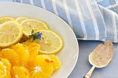 Citrus fruit sliced Stock Photography