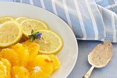Citrus Fruit Sliced Stock Photography
