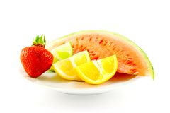 Citrus Fruit with Strawberry and Melon Royalty Free Stock Photography