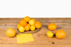 Citrus fruit on table Stock Photo