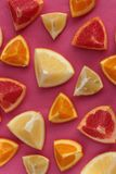 Citrus Fruits Background Stock Image
