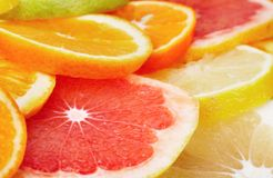 Citrus fruits background Royalty Free Stock Images