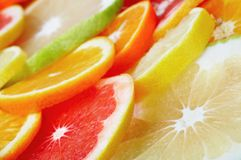 Citrus fruits background Stock Photo