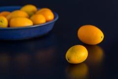 Citrus fruits on black background Royalty Free Stock Photo