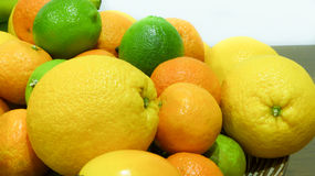 Citrus fruits. Closer look Royalty Free Stock Photo