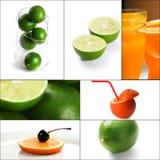 Citrus fruits collage Stock Photo