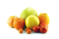 Citrus fruits isolated Royalty Free Stock Photo