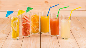Citrus fruits and juice Stock Photo