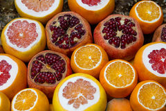 Citrus fruits at the market Stock Image