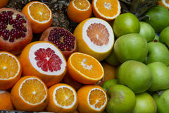 Citrus fruits at the market Royalty Free Stock Photography