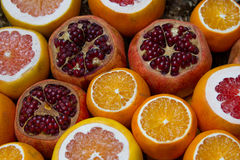 Citrus fruits at the market Royalty Free Stock Images