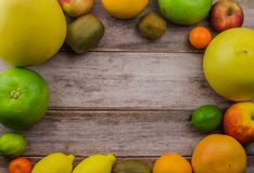 Citrus fruits orange, lemon, grapefruit, mandarin, lime royalty free stock images