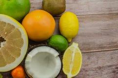 Citrus fruits orange, lemon, grapefruit, mandarin, lime royalty free stock photos