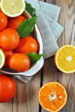 Citrus fruits - orange, lemon, tangerine Stock Photo