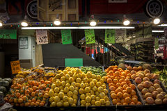 Citrus fruits oranges & lemons on St Lawrence Market Royalty Free Stock Photo