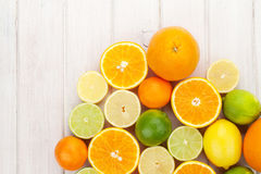 Citrus fruits. Oranges, limes and lemons Royalty Free Stock Photos