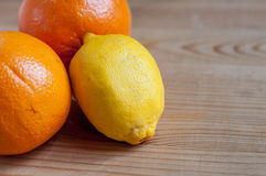 Citrus fruits on the table Royalty Free Stock Photography