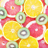 Citrus fruits top view macro, selective focus. stock photography