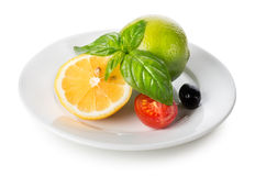 Citrus fruits and vegetables Stock Photo