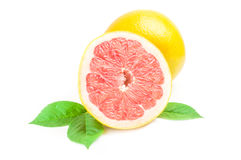 Citrus grandis over a white background Royalty Free Stock Images