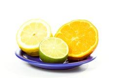 citrus hälft Arkivbild