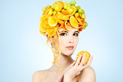 Citrus hairstyle Royalty Free Stock Images