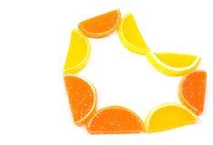 Citrus heart Stock Photography