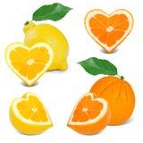 Citrus hearts Royalty Free Stock Photo