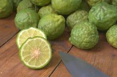 Citrus hystrix cut in half Royalty Free Stock Photos