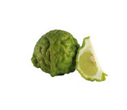 Citrus hystrix. Fruits and  vegetables green Kaffir lime  Leech Lime  Rutaceae Stock Image