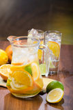 Citrus Ice Water Stock Images