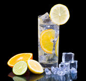 Citrus Ice Water Stock Image