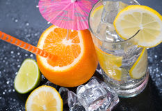 Citrus Ice Water Royalty Free Stock Photography