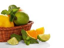 Free Citrus In Wicker Basket Royalty Free Stock Photo - 35323415