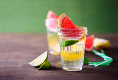Citrus infused water Royalty Free Stock Photo